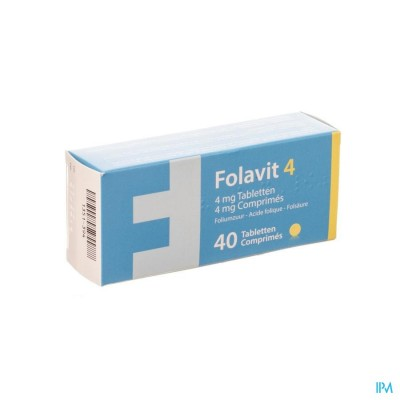 FOLAVIT 4,0 MG TABL 40 X 4,0 MG