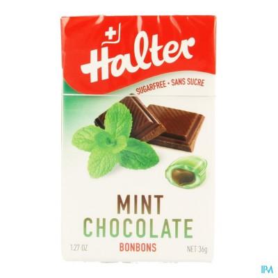 Halter Bonbon Munt-chocolade Zs 40g