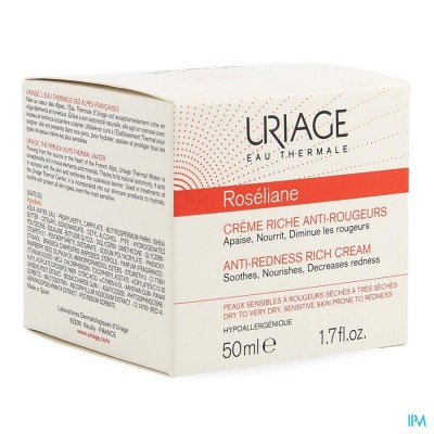 Uriage Roseliane Creme Rijk A/roodheid Pot 50ml