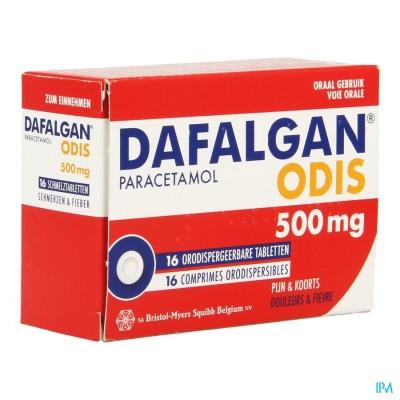 DAFALGAN 500 MG ODIS TABL 16