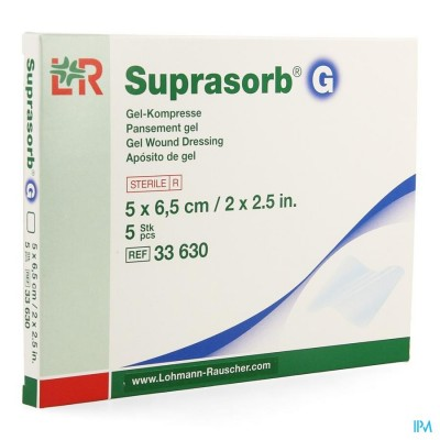 SUPRASORB G KOMPRES NEW 5X6,5CM 5 33630