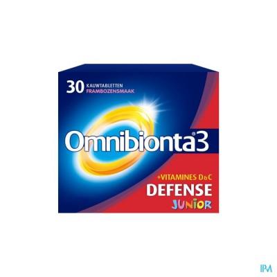 Omnibionta-3 Junior Framboos Kauwtabletten 30
