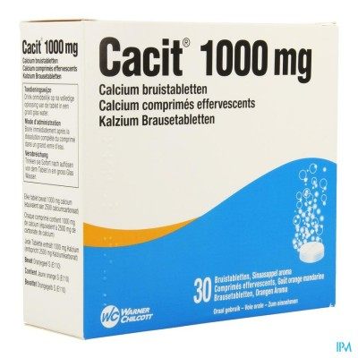 Cacit 1000 Bruistabletten Tube 30 X 1000mg