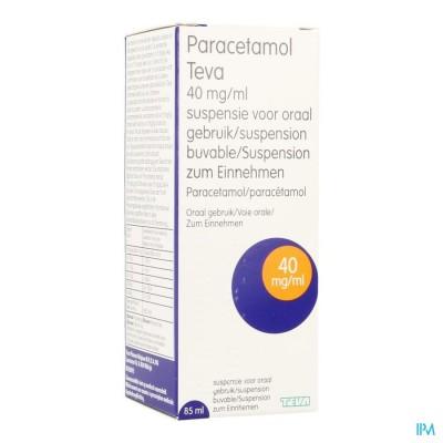 Paracetamol Teva 40mg/ml Orale Suspensie 85ml