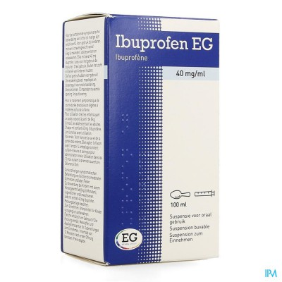 Ibuprofen Eg 40mg/ml Susp Oraal Gebruik 100ml