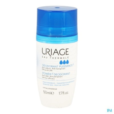 Uriage Deodorant Puissance 3 Roll On 2x50ml