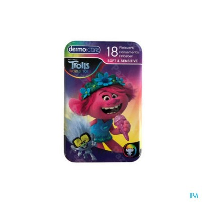Dermo Care Soft&sensitive Trolls Pleist. Strips 18