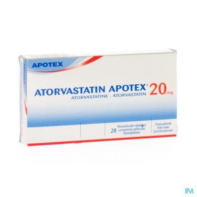 Atorvastatin Apotex 20mg Filmomh Tabl 28 X 20mg