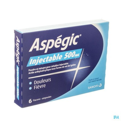 Aspegic 6 Fl Amp Inj + 6 Solv 5ml