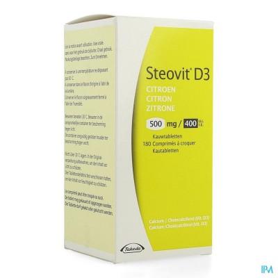 STEOVIT D3 CITROEN 500MG/400IE KAUWTABL 180 FLACON