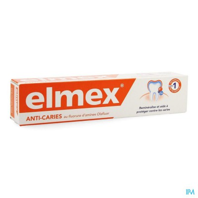 ELMEX TANDPASTA ANTI CARIES VOLWASSEN TUBE 75ML