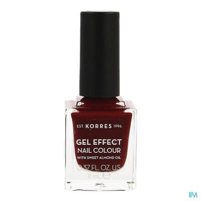 Korres Km Gel Effect Nail 59 Wine Red 11ml