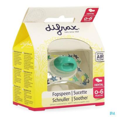 Difrax Fopspeen Silicoon Mini-dental Boy 0-6m 799