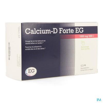 CALCIUM-D FORTE EG 1000MG/800IE MUNT KAUWTABL 90