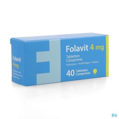 Folavit 4mg Comp 40 X 4mg Nf Verv.1351394