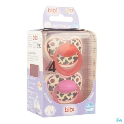 Bibi Happiness Fopspeen Dental Tiger 6-16m Duo