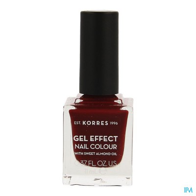 Korres Km Gel Effect Nail 57 Burgundy Red 11ml