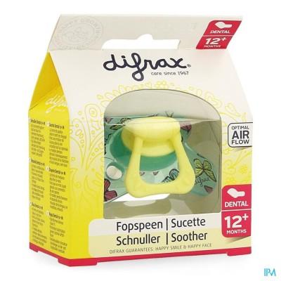 Difrax Fopspeen Dental Semi Filled Girl +12m 346
