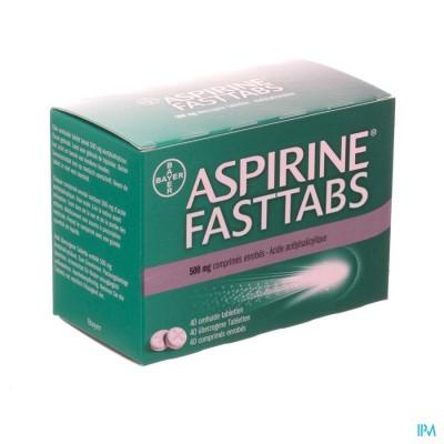 Aspirine Fasttabs 500mg Filmomh Tabl 40