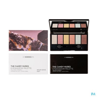KORRES KM VOLCANIC MINERAL EYE. P. CANDY NUDES 6G
