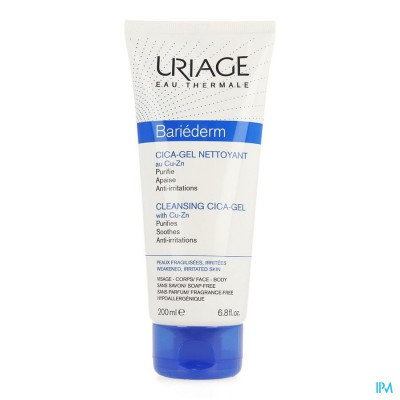 URIAGE BARIEDERM CICA GEL REINIGEND TUBE 200ML