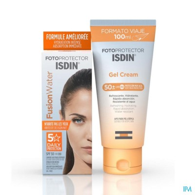 Isdin Fotoprotector Fusion Water 50ml+gel Cr 100ml