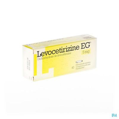 LEVOCETIRIZINE EG 5 MG FILMOMH TABL 40