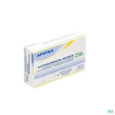 Azithromycin 250mg Apotex Tabl Omhulde 12x250 mg