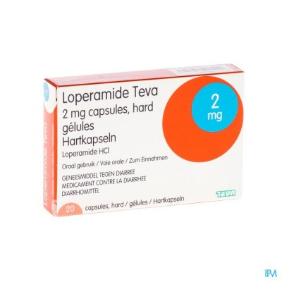 Loperamide Teva Caps 20 X 2mg