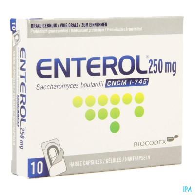 Enterol 250mg Caps Harde Dur S/blister 10x250mg