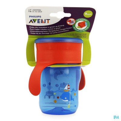 Philips Avent Grow-up Cup Roze Blauw 260ml SCF782/20