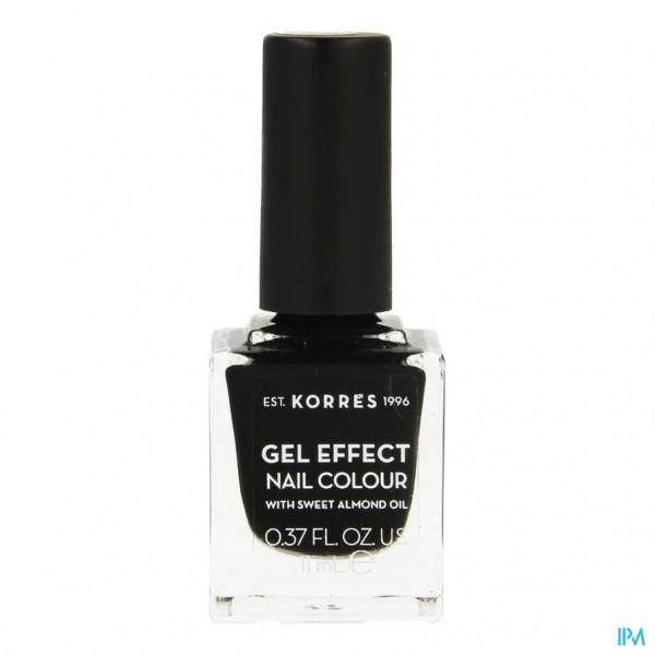 Korres Km Gel Effect Nail 100 Black 11ml