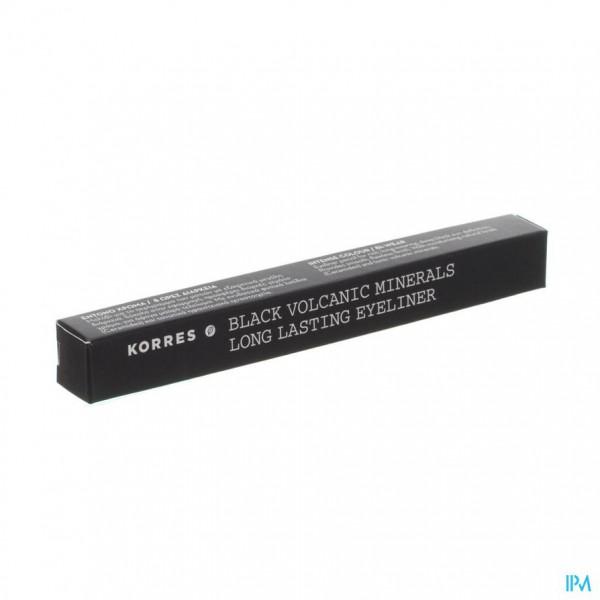 Korres Km Pencil Long-wear Mineral Black