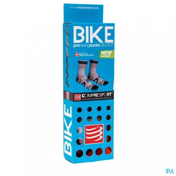 COMPRESSPORT RACING SOCKS BIKE BL/RE T2