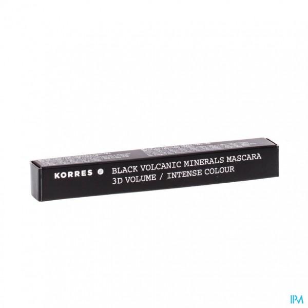 Korres Km Black Mineral Mascara 01 Black Volum 8ml