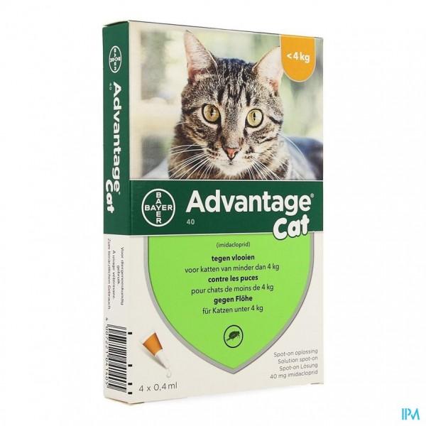 Advantage 40 Katten <4kg 4x0,4ml