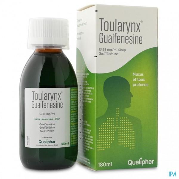 TOULARYNX GUAIFENESINE 13,33MG/ML SIROOP 180ML