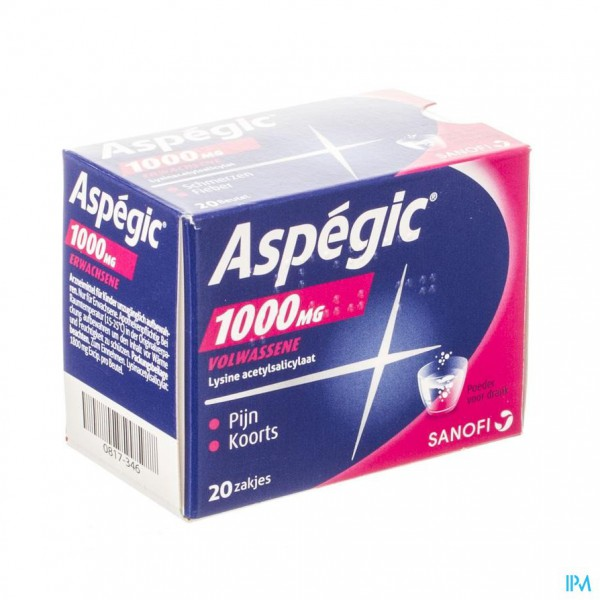 Aspegic 1000 Pulv 20x1000mg Ad