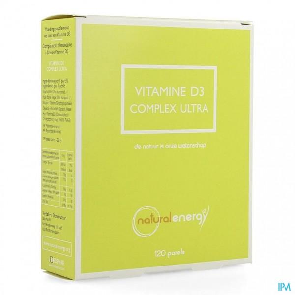 Vitamine D Compl.f. 3000ui Natural Energy Parel120