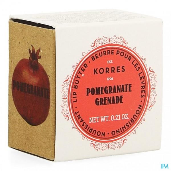 Korres Km Lipbutter Pot Pomegranate 6g