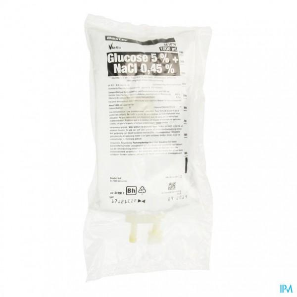 Bx Pl Glucose 5% + Nacl 0,45% 1l