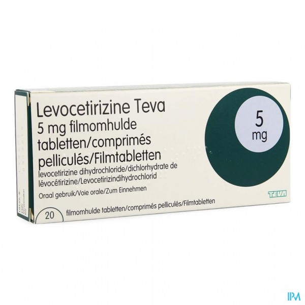 Levocetirizine Teva 5mg Filmomh Tabl 20 X 5mg