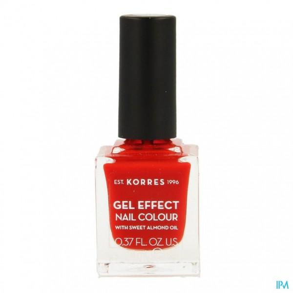Korres Km Gel Effect Nail 48 Coral Red 11ml