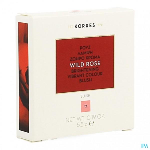 Korres Km Wild Rose Blush 12 Golden Pink 5,5g