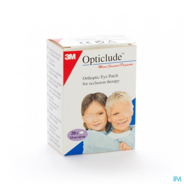 Opticlude 3m Junior Oogkompres 63mmx48mm 20 1537