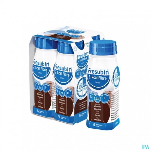 FRESUBIN 2KCAL FIBRE DRINK CHOCOLADE FL 4X200ML