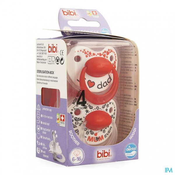 Bibi Fopspeen Hp Dental Duo Mama Papa 6-16m 2