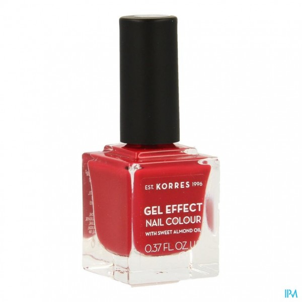 KORRES KM GEL EFFECT NAIL 51 ROSY RED 11ML