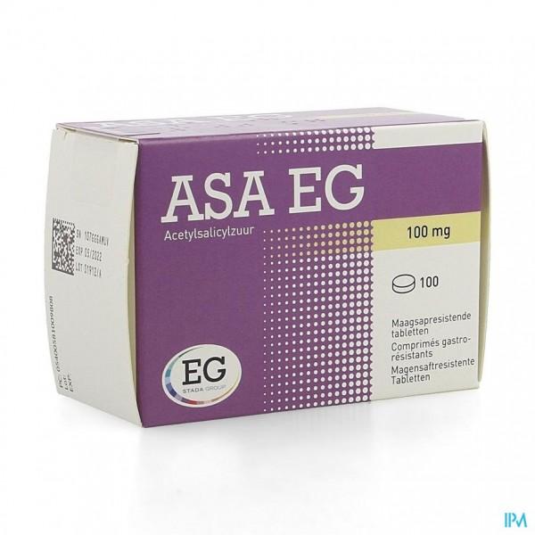 Asa 100 Eg Comp Maagsapresistent 100 X 100mg Blist